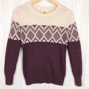 Old Navy Color Block Knit Long Sleeve Sweater XS